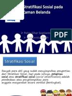 Sistem Stratifikasi Sosial Pada Zaman Belanda