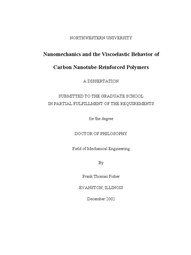 Phd thesis carbon nanotubes