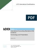 International Accounting Standards (IAS) Guidance