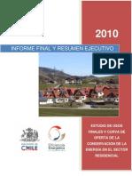 Usos Finales COC Sector Residencial 2010
