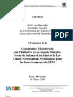 Statement of Luc Gnacadja