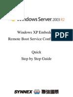 Quick Remote Boot Setup on Windows Server 2003 r2