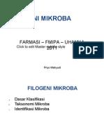Mikrobiologi Kuliah 2 Filogeni Mikroba
