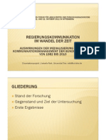 Kommunikation deutscher Regierungssprecher