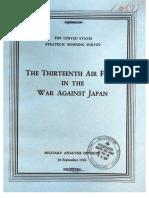 USSBS Report 69, The Thirteenth Air Force in the War Against Japan