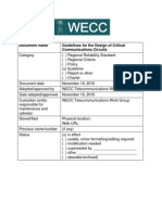 Guidelines for the Design of Critical Communications Circuits