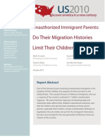 Unauthorized Immigrant Parents - Do Their Migration Histories Limit Their Children's Education