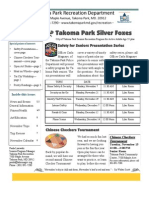 Silver Foxes Newsletter - November 2011 from the Takoma Park Recreation Department