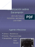 Actualización sobre Sarampión