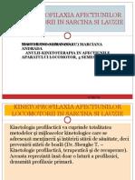 Kinetoprofilaxia Afectiunilor Locomotorii in Sarcina Si Lauzie Power Point