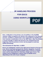 IDoc Error Handling Using Workflow