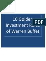 Investment Tips From Warreen Buffet