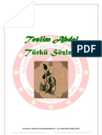 TESLIM ABDAL TÜRKÜ SÖZLERI