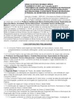 Edital Professor Estado de Minas Gerais