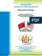 AmCham T&T 2nd Annual Excellence in HSE Awards Information Package