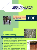 Interpretasi Tanah Untuk Pemetaan Rawan Bencana