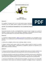 CONSTITUCIÓN ESPAÑOLA DE 1978 derechos y deberes