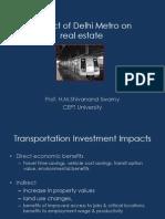Impact of Delhi Metro on Real Estate