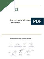 Unidad IV Acidos Carboxilicos y Derivados