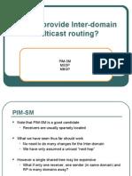 Inter Domain Multi Cast