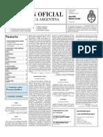 Boletín Oficial Segunda Sección 25-10-2011