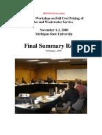 EPA Full Cost Pricing Workshop Full Report 2007