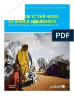 RESPONSE TO THE HORN OF AFRICA EMERGENCY - A CRISIS AFFECTING LIFE, LIVELIHOODS AND WAYS OF LIFE