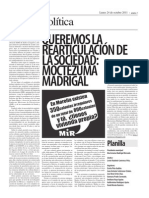 Nota Publicada en El Michoacano 17