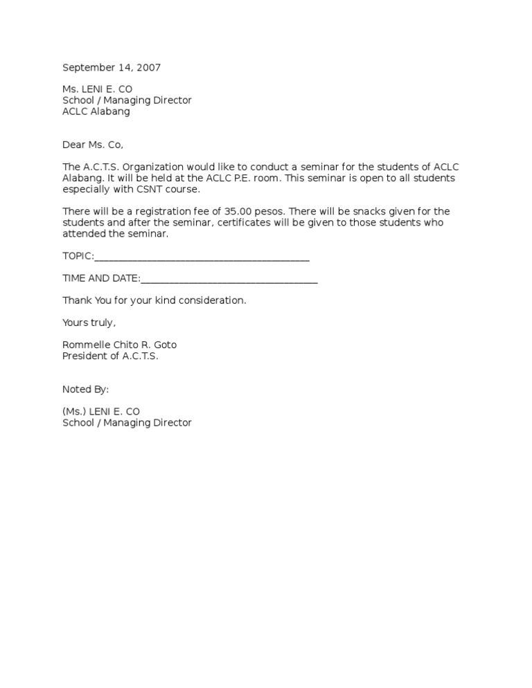 letter giving permission for medical care