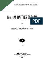Don Juan Martínez de Rozas. (1925)