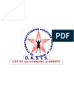 OASIS Top Students Header