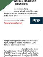 Teks Pengerusi Majlis Unit Beruniform