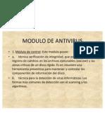 MODULO DE ANTIVIRUS