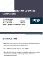 Igate Acquisition of Patni Computersgjjgjgjgggg
