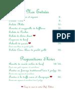 Café des marronniers - Notre Carte Fr