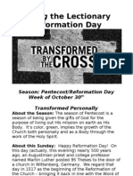 Living the Lectionary Reformation Day