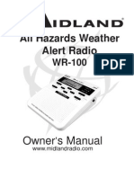 Midland WR-100 Weather Radio Manual