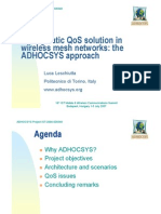3.2 a Pragmatic QoS Solution in Wireless Mesh Networks the ADHOCSYS Approach