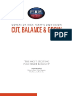 Governor Rick Perry - Cut Balance and Grow - Full Economic and Tax Plan
