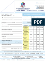 Student Application Form International New