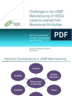 Levine H-challenges in the Cgmp Manufacturing of Hescs-lessons Learned From Monoclonal Antibodies-rprint