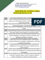 Biografia Suscinta de Lutero e Fatos Contemporâneos a Ele