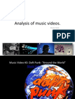 Analysis of Music Videos
