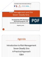 Not-For-Profit Risk Management & The 7 Deadly Sins