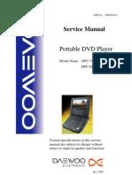 Dpc-7600 8600 Daewoo Dvd Portable Player