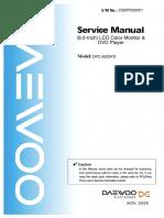 Dpc-8200pd Daewoo Dvd Portable Player