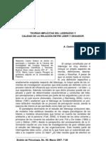 Teorias Implicit As Del Liderazgo y Calidad de La Relacion Entre Lider y Seguidor a . CASTRO M