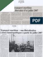 Transport Maritime-Le Matin