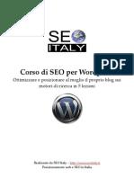 Corso SEO Italy SEO Wordpress