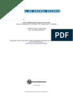 Factors Influencing Boar Sperm Cryosurvival